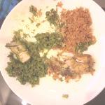 green and red biryani