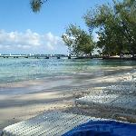 Rum Point beach (better for swimming)