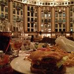 Dinner at Cafe under dome.