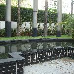 Jardin al lado del área del restaurant