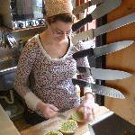 Poppy making lunch