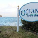 Front Sign with Ocean