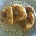 shrimp taco!! taco de camaron!