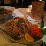 Roasted Duck Curry with Sticky Rice and Pad Thai