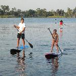 Kids can SUP too!  As long as your child is a good swimmer they can join us for a private tour.