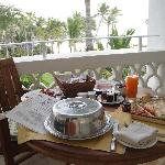 Sunrise breakfast on our private terrace