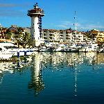 Marina Vallarta features gorgeous water and boat views.