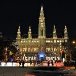 Rathaus during the winter skating time