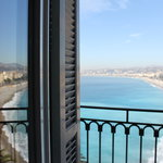 Sea view from a room