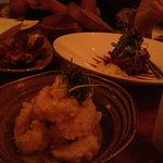 Tempura prawns & bbq ribs