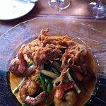 blackened shrimp on grits