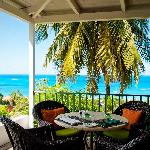 Dining with a view of the Caribbean Sea and neighbouring islands