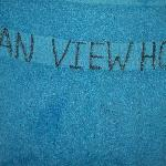 towels written with markers