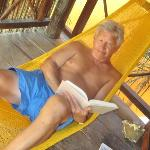 Peter on balcony hammock