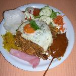 indonesian rice dish ( nasi goreng )