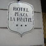 The only sign to tell which hotel it is!