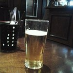 My first pint in the UK!
