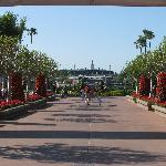 Approaching the entrance to World Showcase