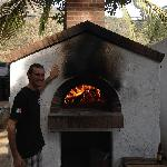 Jean Pascal & wood fired brick oven
