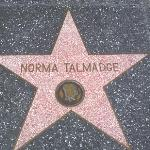 The Walk of Fame star for Norma Talmadge.  Norma had the first set of celebrity hand prints at G