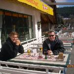 Terrase at  Bergsee Cafe, overlooking Lake Titisee