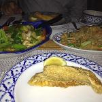 Hamour Fillet with Noodles