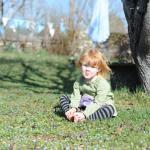 Relaxing in the gardens
