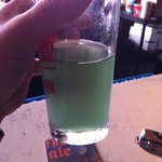 St. Patricks Day green beer (true green, no food coloring) They use an algae during brewing to m