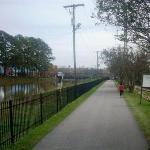 trail along side canal