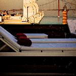 Sun deck overlooking the Tagus River