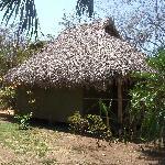 Un de ces petits pavillons typiques, très agréable, de l'ombre si on en veut, des hamacs, etc.