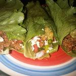 Beef Lettuce Tacos We Made. All Organic.