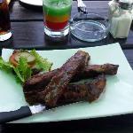 BBQ ribs appetizer