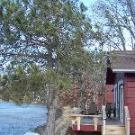 Roy Cabins--I think if it weren't for the cattails, you could fish from your deck.