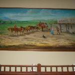 Original painting of the Inn--above the registration desk