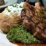 Rib Eye Steak, Creamed Spinach