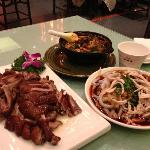 Tea smoked duck, Mapo tofu and jelly noodles