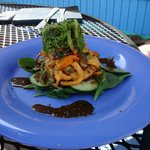 Calamari and seaweed salad