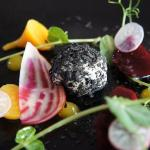 Beetroot & ashed goats cheese