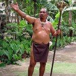 Chief Ben 'Lam Lam' San Nicolas greets guests