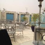 roof terrace on a windy day after a sand storm!!