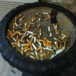 3 guests and this is the ashtray at the hotel entrance...