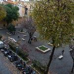 Vistas a la plaza desde apartamento A9