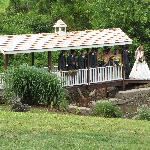 Our Covered Bridge is a great backdrop for wedding photos!