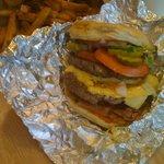 Bacon Cheese Burger and Cajun Fries
