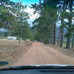 Dirt Road runter zum Gate