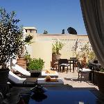 A l'ombre sur la terrasse