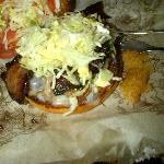 My burger- maple bacon cheesburger