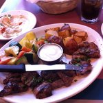 Shish Kebab with meat