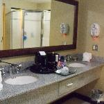 In-room bathroom counter